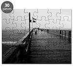 Flagler Beach Pier Black and White Photo Puzzle