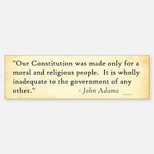 John Adams - Morality - Bumper Bumper Bumper Sticker