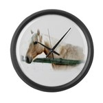 Horse Photography Large Wall Clock