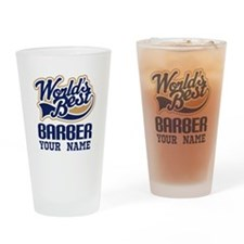 Barber Personalized Gift Drinking Glass