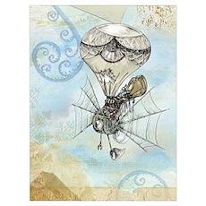 balloon steampunk Poster