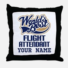 Flight Attendant Personalized Gift Throw Pillow