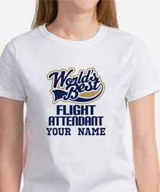 Flight Attendant Personalized Gift T-Shirt