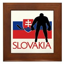 Slovak Hockey Framed Tile