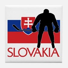 Slovak Hockey Tile Coaster