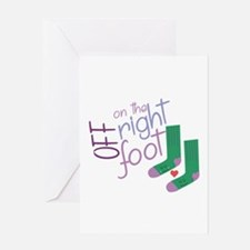 The Right Foot Greeting Cards