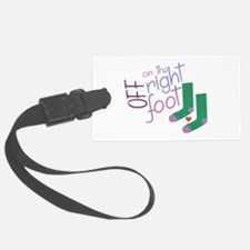 The Right Foot Luggage Tag