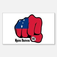 Samoa Fist 1923 Rectangle Decal