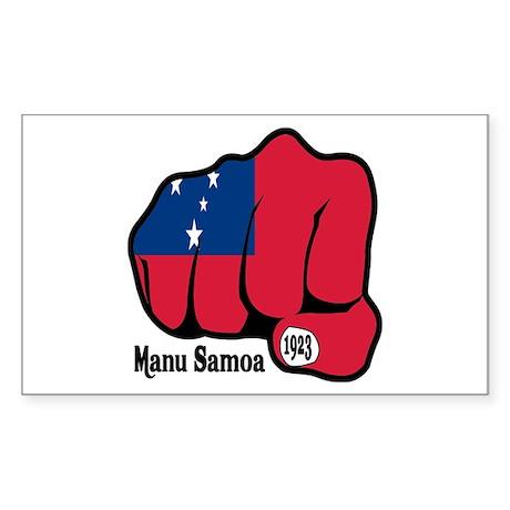 Samoa Fist 1923 Rectangle Sticker
