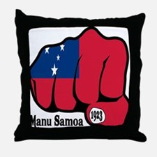 Samoa Fist 1923 Throw Pillow