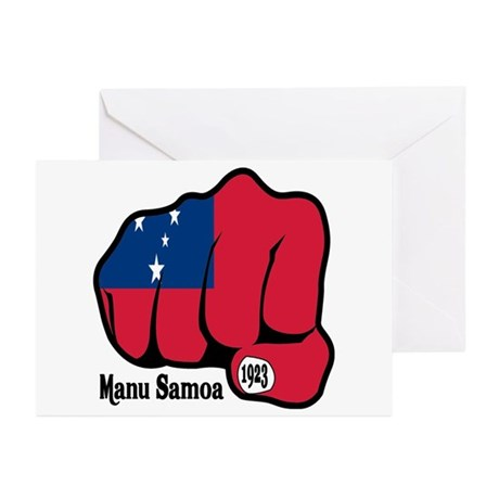 Samoa Fist 1923 Greeting Cards (Pk of 10)