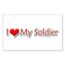 I <3 my Soldier Rectangle Decal