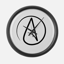 Atheism Symbol Large Wall Clock