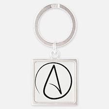 Atheism Symbol Square Keychain