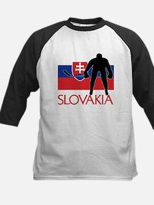 Slovak Hockey Kids Baseball Jersey