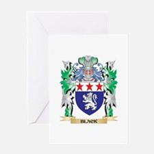 Black Coat of Arms - Family Crest Greeting Cards