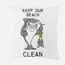 Clean Beaches Woven Throw Pillow