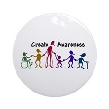 """Create Awareness"" Ornament (Round)"