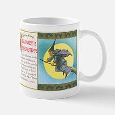Vintage Halloween Postcard - Precaution Mug