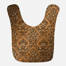 Deep Copper Metal Effect Damask Bib