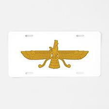 Zorastrian Symbol Aluminum License Plate
