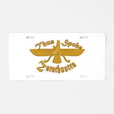 Thus Spake Zarathustra Aluminum License Plate