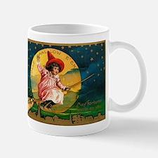 Vintage Halloween Postcard 4 Mugs