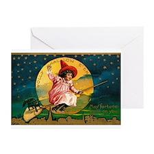 Vintage Halloween Postcard 4 Greeting Cards