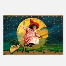 Vintage Halloween Postcard 4 Postcards (Package of