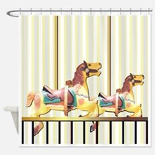 Carousel Horses Curtain Shower Curtain