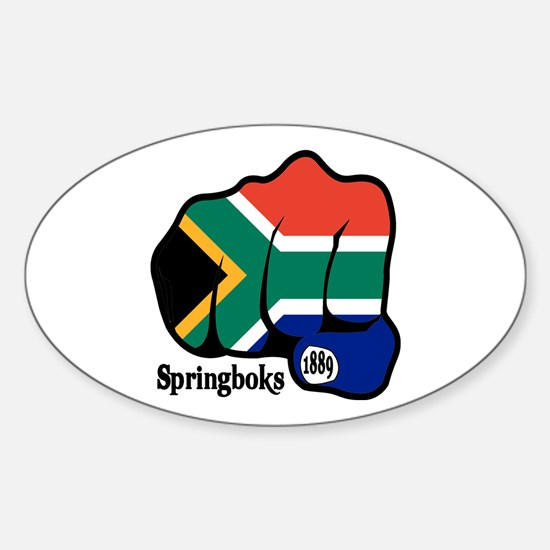 South Africa Fist 1889 Oval Decal