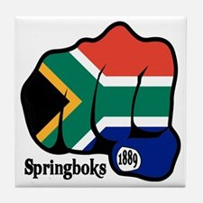 South Africa Fist 1889 Tile Coaster