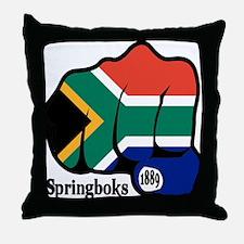 South Africa Fist 1889 Throw Pillow