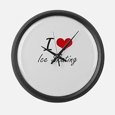 I love Ice Skating Large Wall Clock
