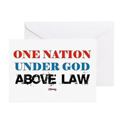 Under God Above Law Greeting Cards (Pk of 10)