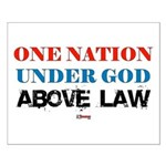 Under God Above Law Small Poster