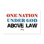 Under God Above Law Mini Poster Print