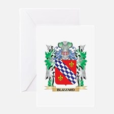 Blizzard Coat of Arms - Family Cres Greeting Cards
