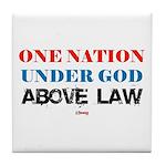 Under God Above Law Tile Coaster