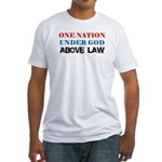 Under God Above Law Fitted T-Shirt