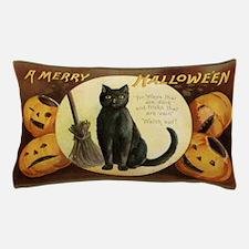Vintage Halloween Postcard 7 Pillow Case