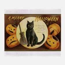 Vintage Halloween Postcard 7 Throw Blanket