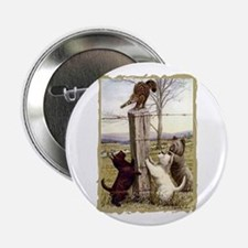 Scottie Westie & Skye Terriers Button