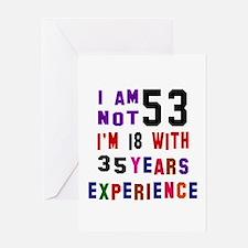 53 Birthday Designs Greeting Card