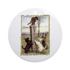 Scottie Westie & Skye Terriers Ornament (Round)