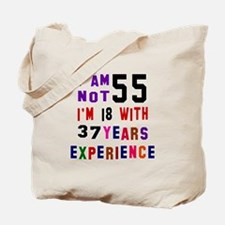 55 Birthday Designs Tote Bag