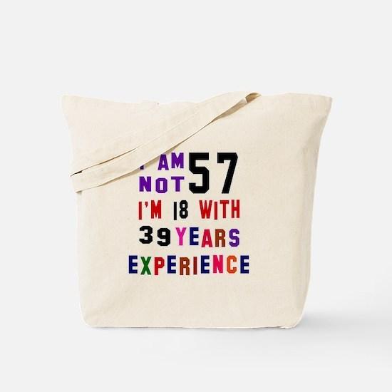 57 Birthday Designs Tote Bag