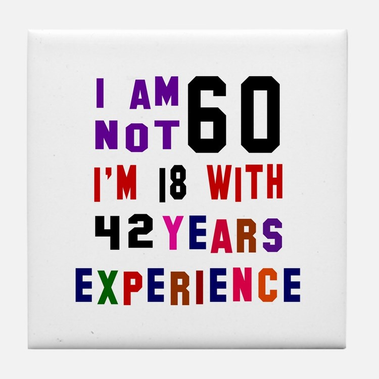 60 Birthday Designs Tile Coaster