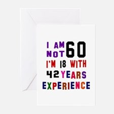 60 Birthday Designs Greeting Cards (Pk of 10)