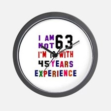 63 Birthday Designs Wall Clock